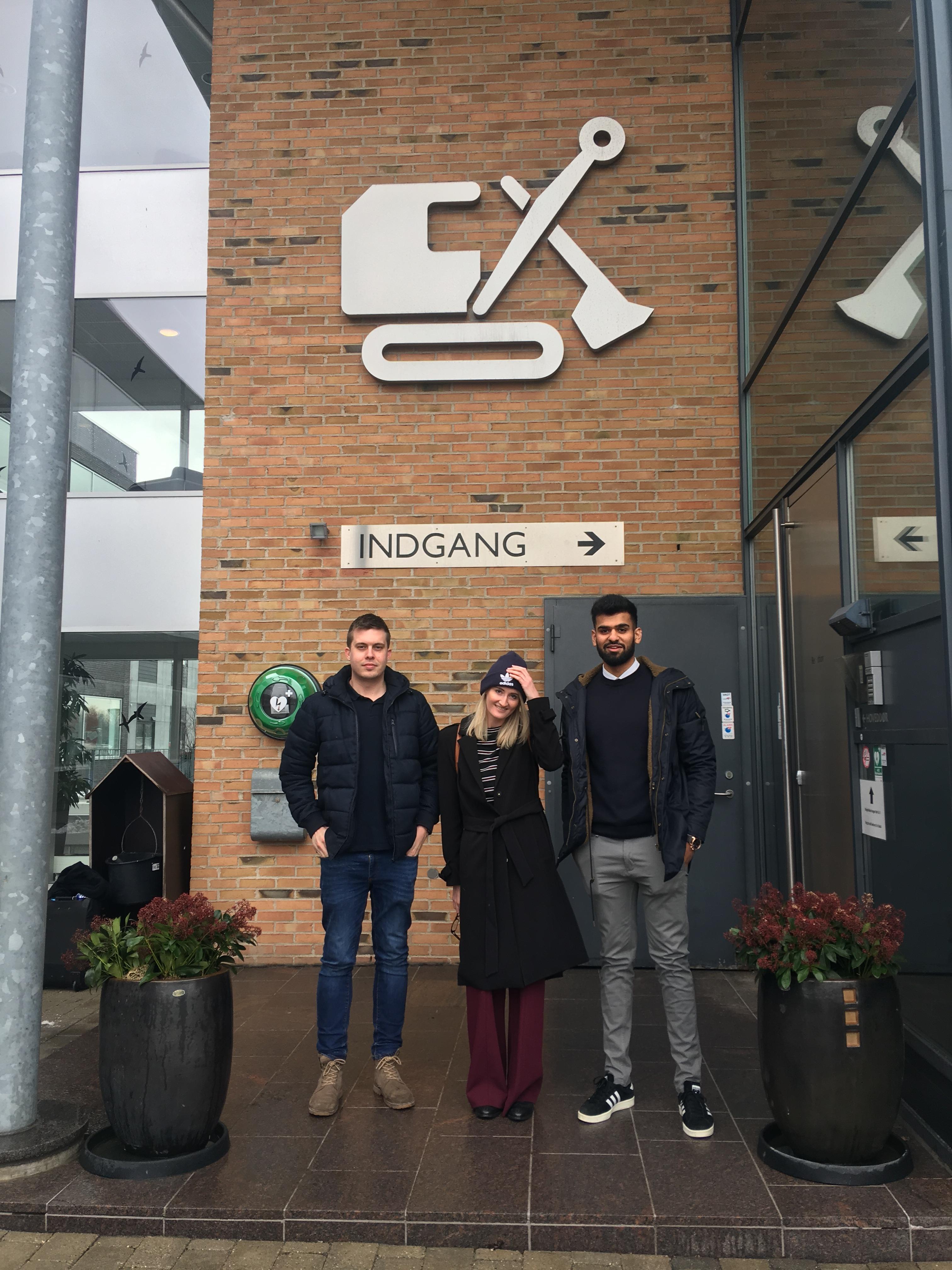 Me outside Aarsleffs Copenhagen office