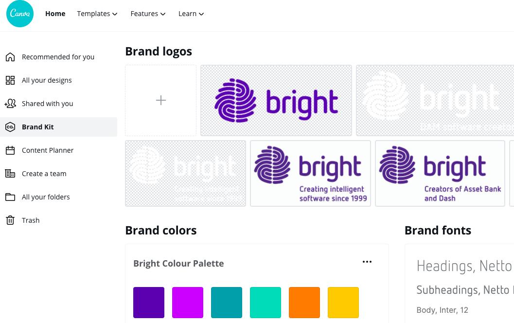 Canva brand kit