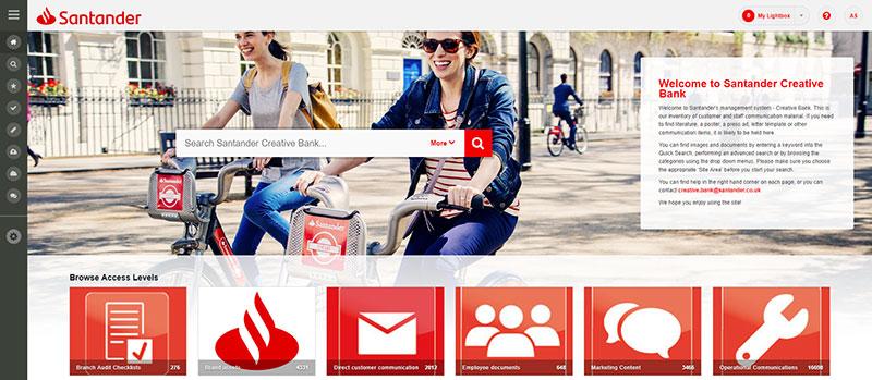 Santander asset bank screenshot