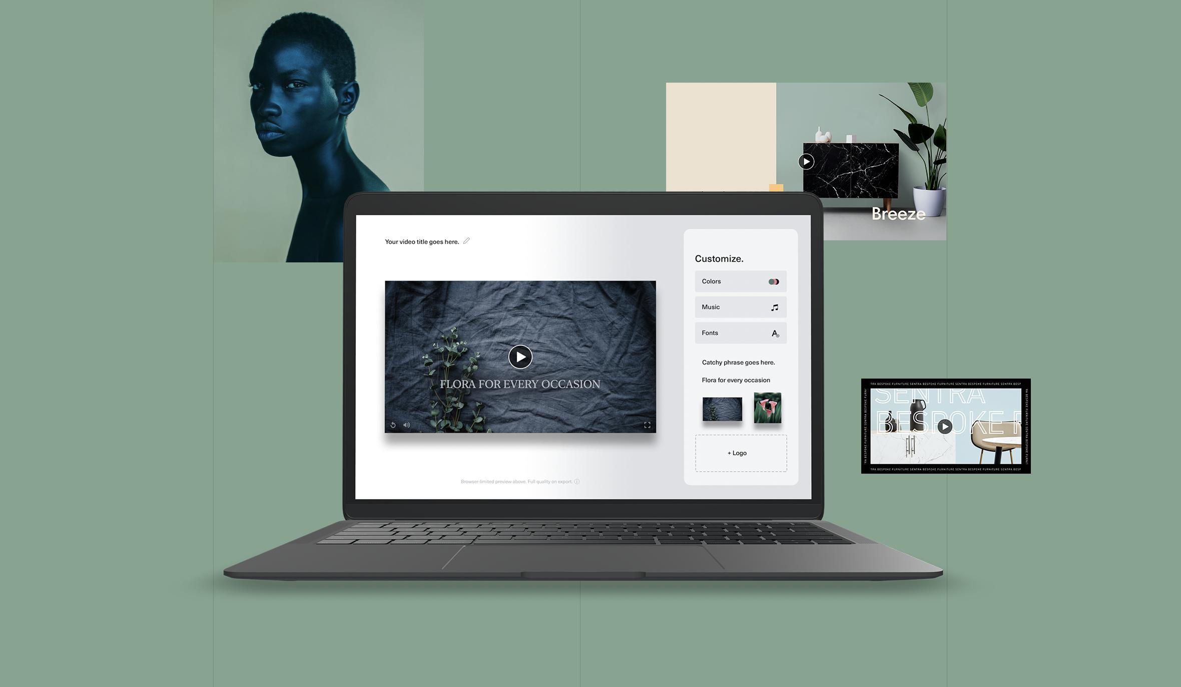 product shot of Waymark video templating software
