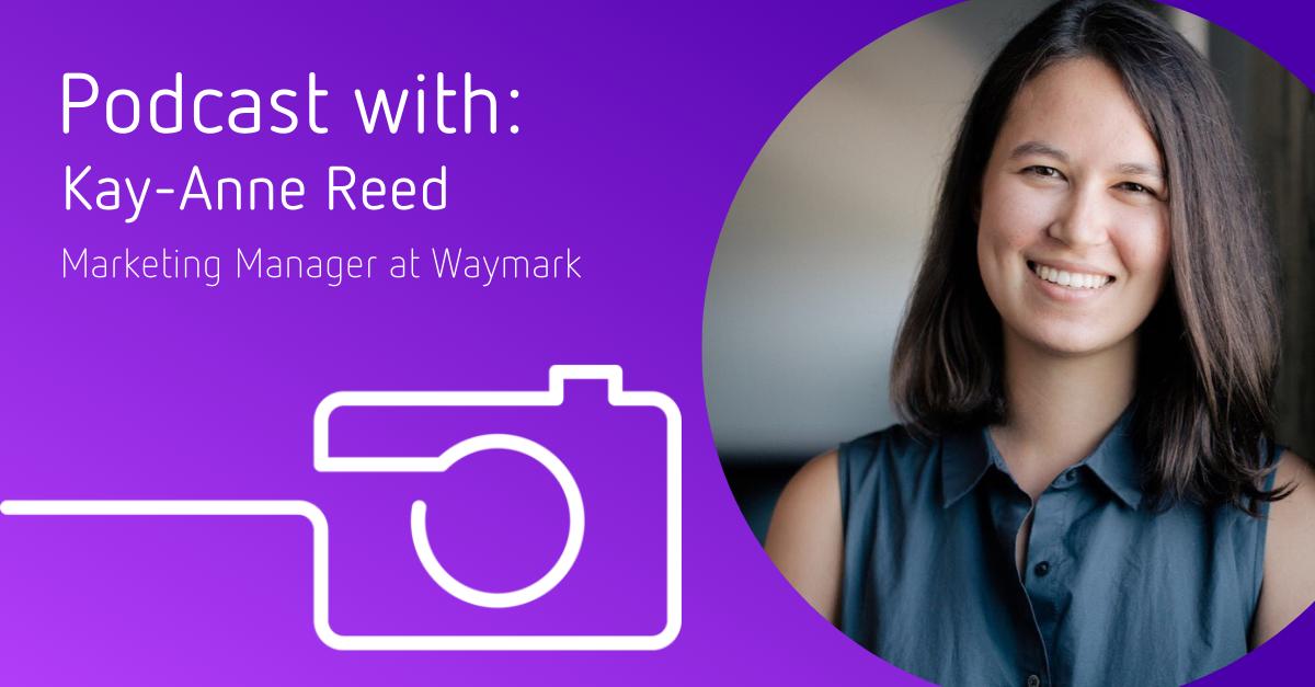 Kay-Anne Reed at Waymark headshot and Bright branding