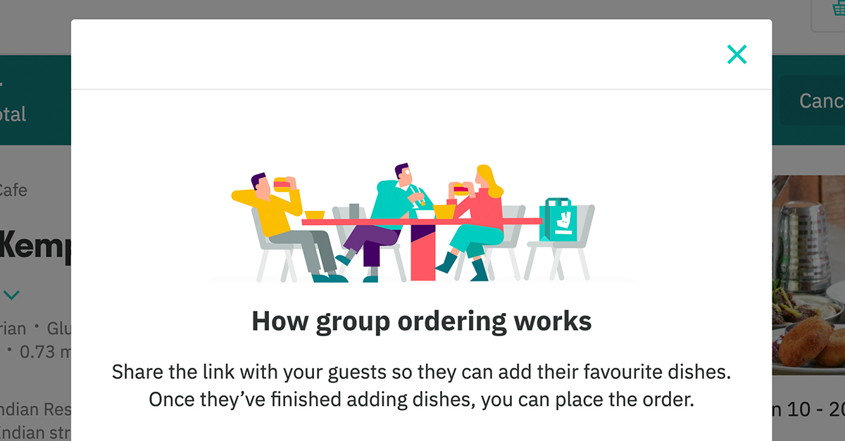 Deliveroo Group Order example