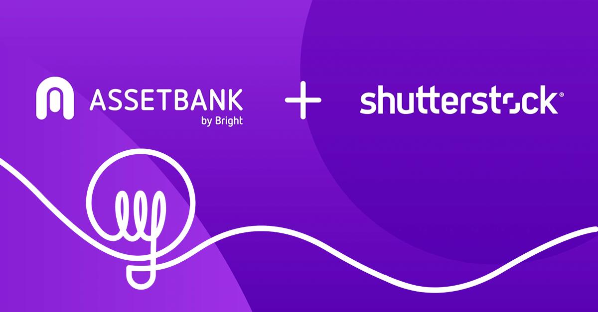 Asset Bank and Shutterstock integration logos